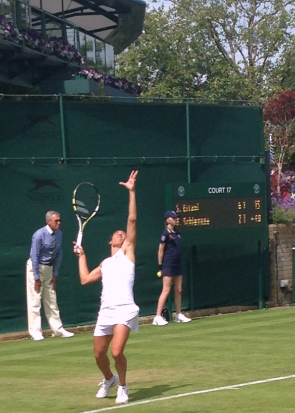 Errani's serve was a sight to see