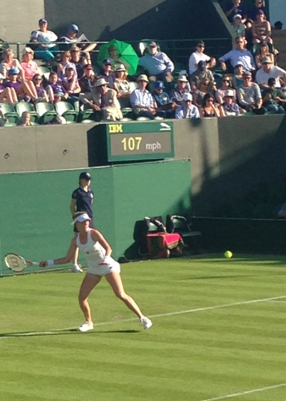 Riske put up a good fight, but Safarova's return was wonderful to watch