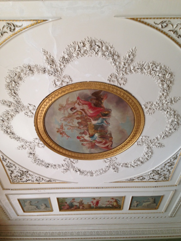 I love that the ceilings were considered another canvas for art back in the day--no need for them to just be plain