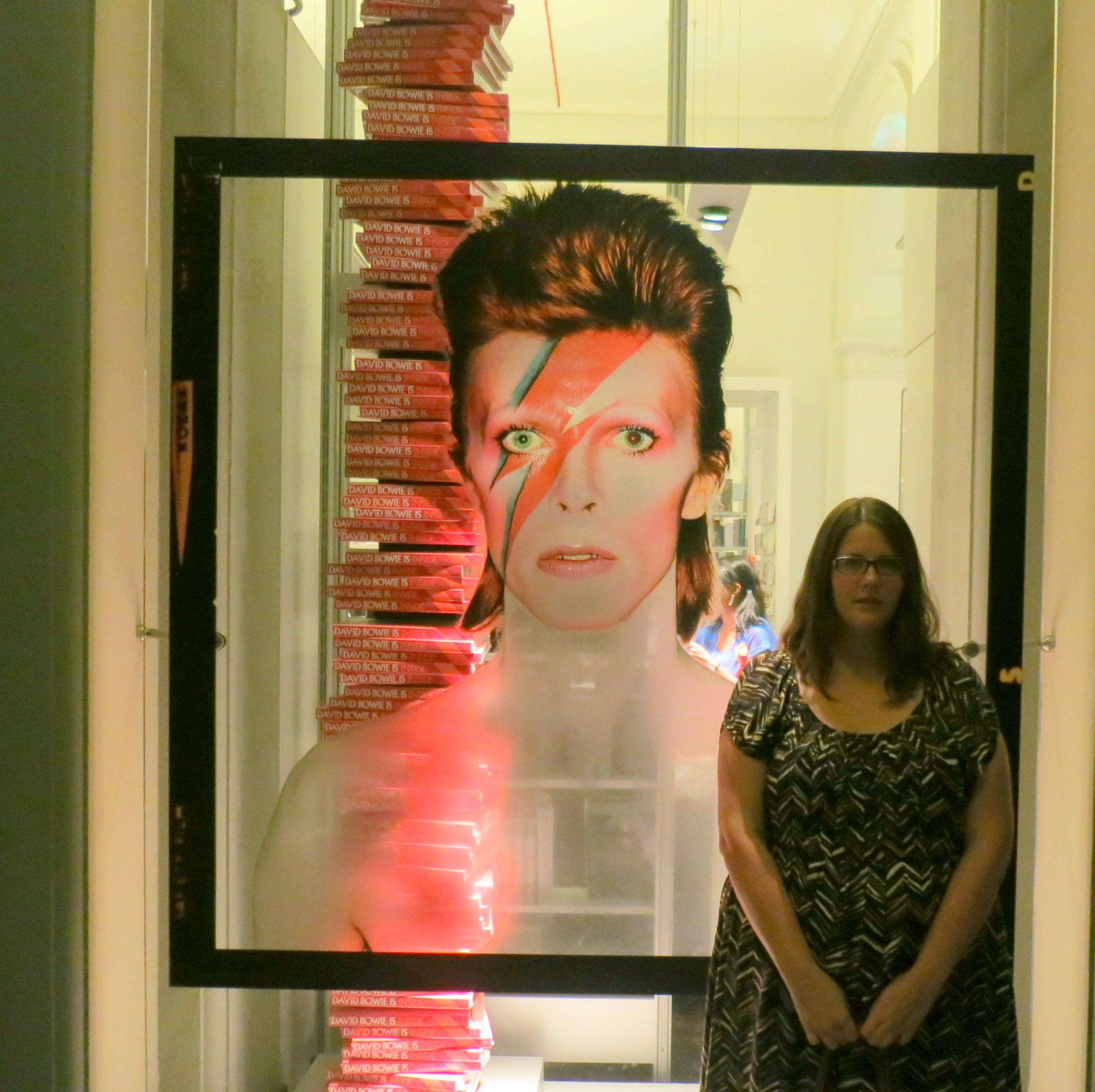At the David Bowie Is... exhibit