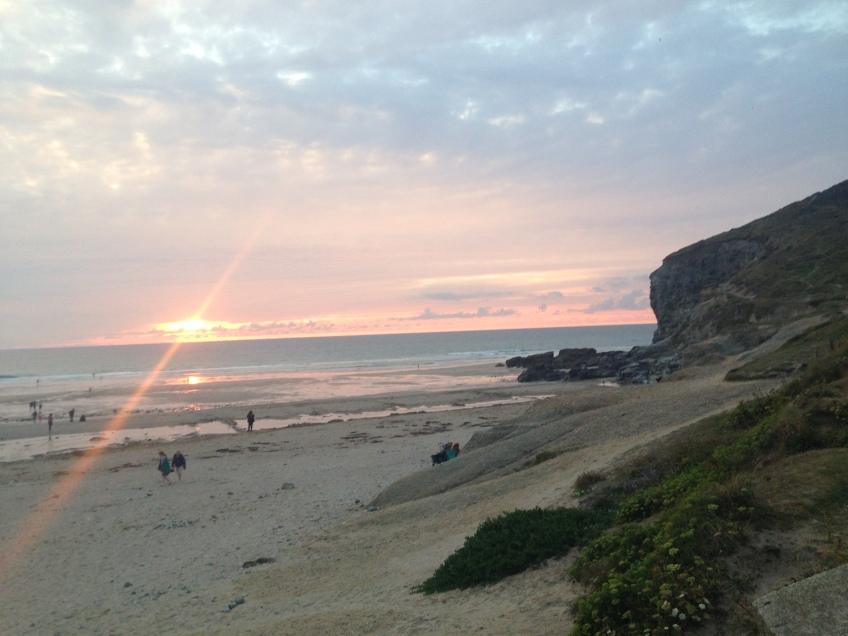 sunset cornwall uk