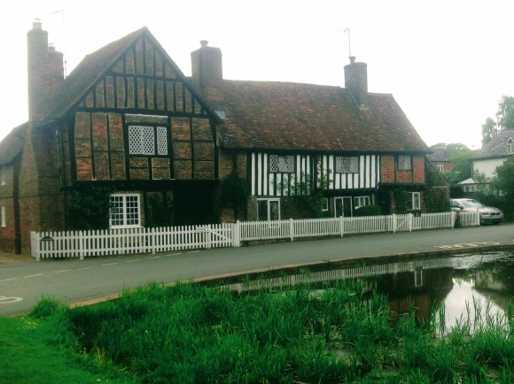 Old Tudor buildings in the village